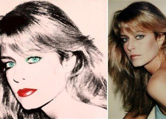 Farrah Fawcett portrait is one of a pair created by Andy Warhol in 1980