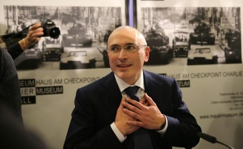 Former Russian oil tycoon Mikhail Khodorkovsky was recently freed after 10 years in jail photo