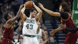 Kris Humphries came pretty close to scoring two points for the other team during the Boston Celtics' matinee matchup against the Cleveland Cavaliers