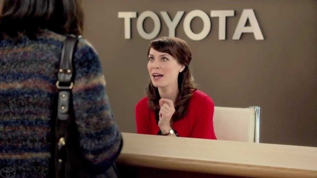 "Laurel Coppock plays the character ""Jan"" in a series of Toyota commercials 640x360 photo"