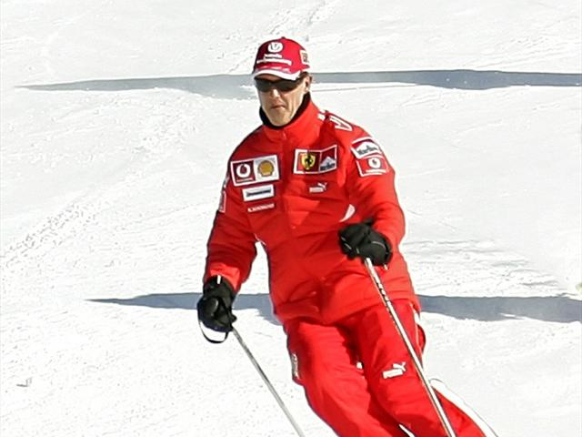 Michael Schumacher's family is at his bedside as he fights for life following a skiing accident in the French Alps photo