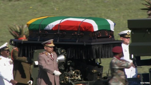Nelson Mandela's state funeral is taking place in his ancestral home in Qunu, ending a week of commemorations for South Africa's first black president