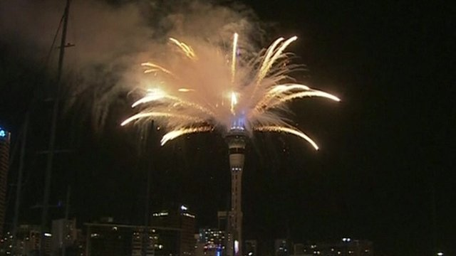 New Year 2014 celebrations are beginning with Auckland