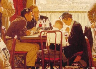 Norman Rockwell's painting Saying Grace has been sold for $46 million at Sotheby's in New York