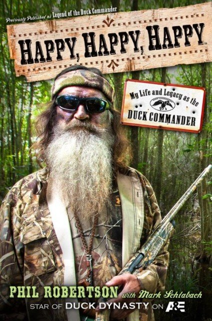 Phil Robertson's memoir Happy Happy Happy jumped from No 56 to No 46 following controversy surrounding him