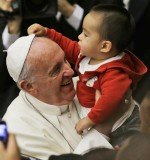 Pope Francis met children and volunteers of the Santa Marta Vatican Institute