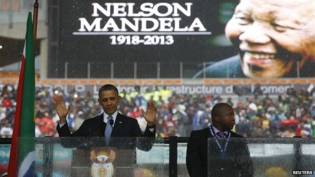 "President Barack Obama said Nelson Mandela was a ""giant of history"""