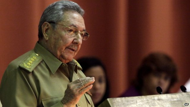 President Raul Castro has called for civilized relations with the US photo