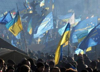 Rival protests are expected in central Kiev, amid fears of possible clashes