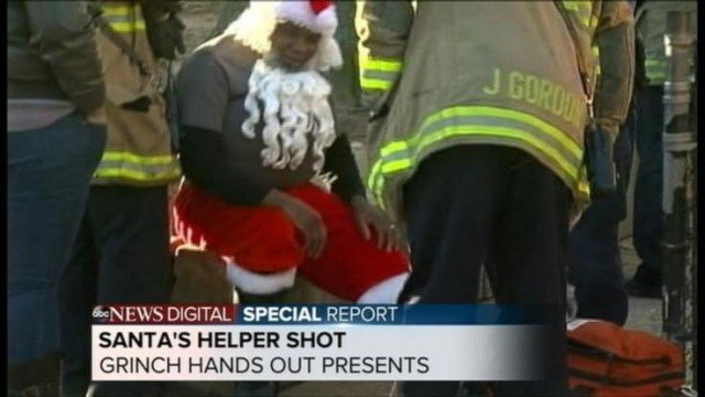 Santa's helper has been shot in the back with a pellet gun while delivering toys in Washington