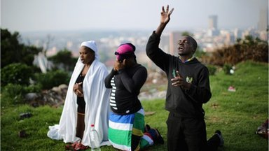 South African people are taking part in a day of prayer and reflection for late ex President Nelson Mandela photo