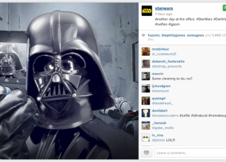 Star Wars launched its official Instagram account by posting a selfie of Darth Vader