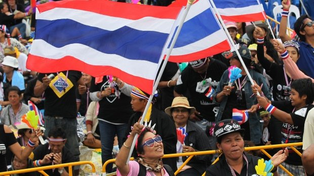Thai opposition is holding a mass rally in Bangkok as its campaign to bring down the government of Yingluck Shinawatra continues