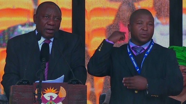 Thamsanqa Jantjie said he may have suffered a schizophrenic episode while on stage at Nelson Mandela's memorial service
