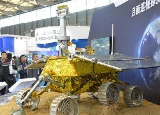 The 260lb Jade Rabbit rover can climb slopes of up to 30 degrees and travel at 660ft per hour
