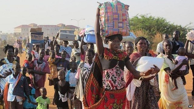 The UN estimates 20,000 people have taken refuge in UN compounds in South Sudan's capital