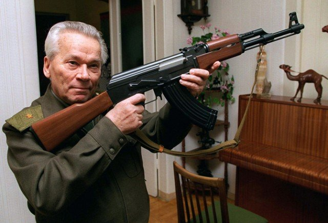 The automatic rifle Mikhail Kalashnikov designed became one of the world's most familiar and widely used weapons