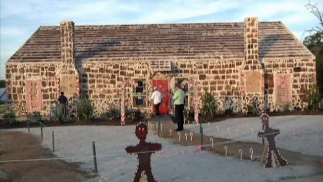 The giant gingerbread house in Bryan Texas has been declared the biggest ever by Guinness World Records 640x360 photo