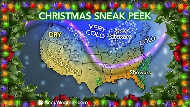 The worst weather will focus on the days prior to Christmas as millions of travelers take to the roads and skies in the US and southern Canada