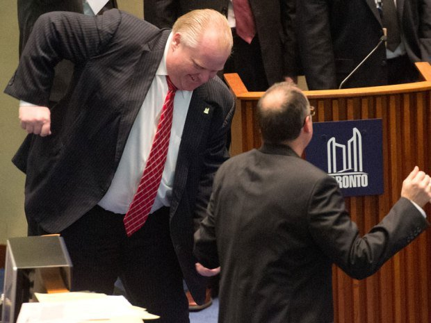 Toronto Mayor Rob Ford has been filmed dancing in the City Council to songs including Bob Marley's One Love