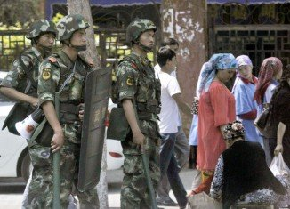 Xinjiang, home to the Muslim Uighur minority group, sees sporadic clashes