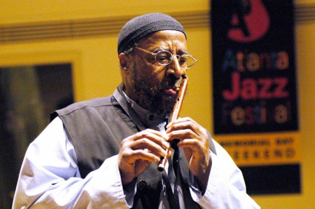 Yusef Lateef played in bands with Dizzy Gillespie and Charles Mingus and gained a global following as one of the first to incorporate world music into jazz 640x426 photo