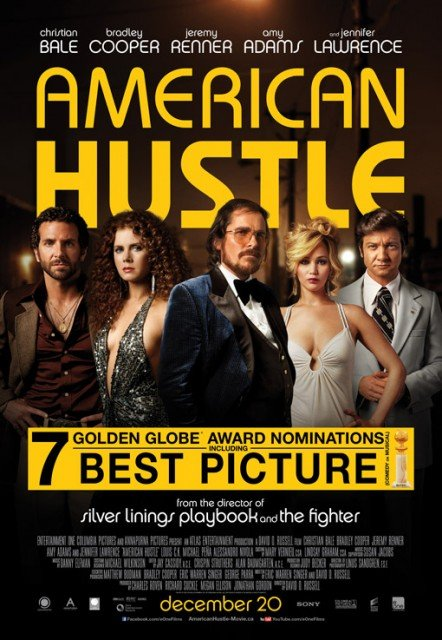 American Hustle has won three Golden Globe awards at last night ceremony in Beverly Hills