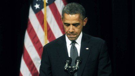 Barack Obamas push for stricter gun controls stalled after the Sandy Hook Elementary School shooting photo