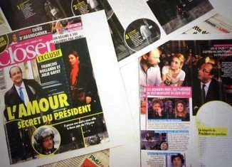Closer magazine reported on Francois Hollande's alleged secret affair with actress Julie Gayet