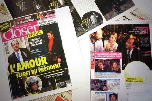 Closer magazine reported on Francois Hollande's alleged secret affair with actress Julie Gayet photo