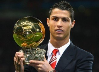 Cristiano Ronaldo was named as the world player of the year for the first time since 2008
