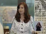 Cristina Fernandez de Kirchner was welcomed by hundreds of supporters at the presidential palace in Buenos Aires