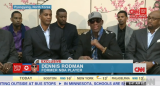 Dennis Rodman has angrily defended his visit to North Korea, ahead of a basketball game to mark Kim Jong-un's birthday
