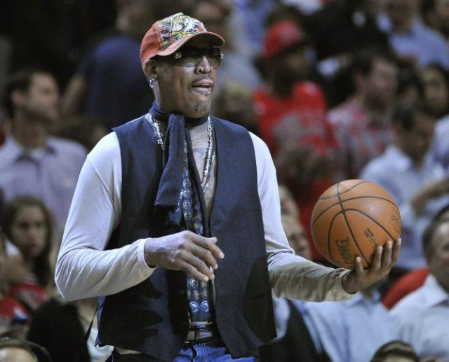 Dennis Rodman has unveiled the team of former NBA players to play an exhibition basketball game in Pyongyang 640x517 photo