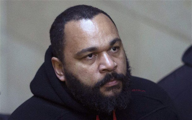 Dieudonne M'Bala M'Bala's properties have been raided by police as part of a fraud inquiry