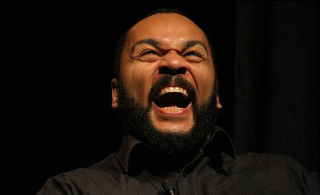 Dieudonne M'Bala M'Bala has been questioned by police after bailiffs alleged they were fired on with rubber bullets at the French comedian's house