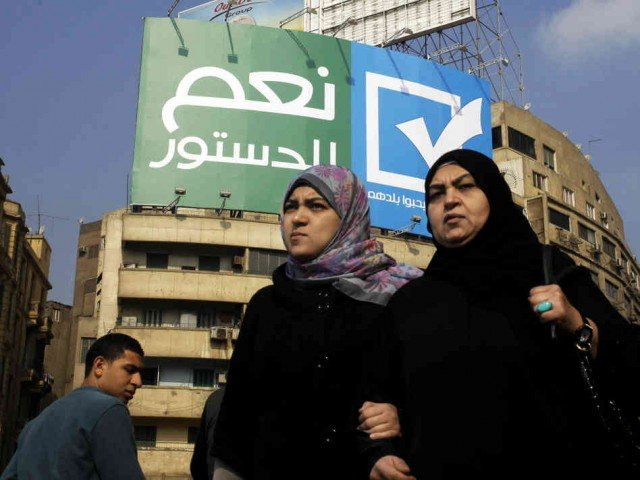 Egypt has begun voting in a two day referendum on a new constitution 640x480 photo