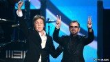Former Beatles Sir Paul McCartney and Ringo Starr reunited on stage