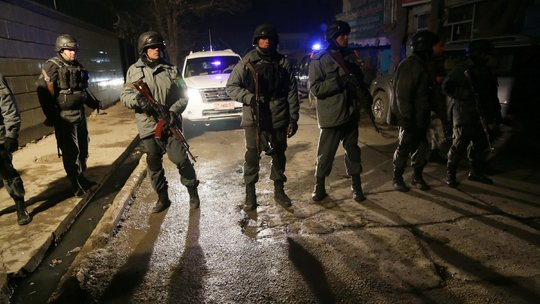 Four UN employees and a senior IMF official were among 21 people killed in a suicide bomb and gun attack on Taverna du Liban restaurant in Kabul