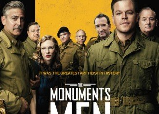 George Clooney pranked his father at a screening of his new movie The Monuments Men by suggesting the old man had passed on in the credits