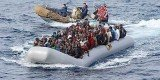 Italian and Greek coast guards saved more than 300 migrants from rough waters in two separate incidents