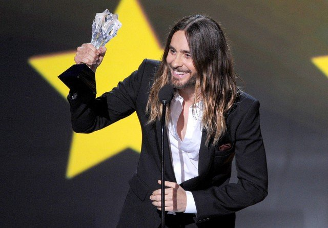 Jared Leto dedicated his award to all the people around the world who are living with HIV
