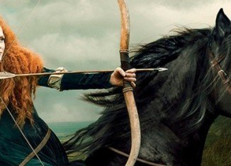 Jessica Chastain has portrayed Princess Merida from animated movie Brave for O, The Oprah Magazine photo shoot