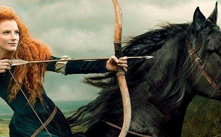Jessica Chastain has portrayed Princess Merida from animated movie Brave for O The Oprah Magazine photo shoot photo