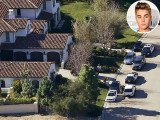 Justin Bieber's Los Angeles home has been searched by police after the pop star allegedly threw eggs at his neighbor's home