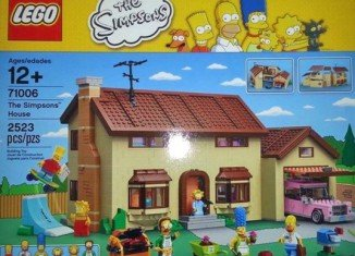LEGO will produce a construction set based on hit TV animation The Simpsons