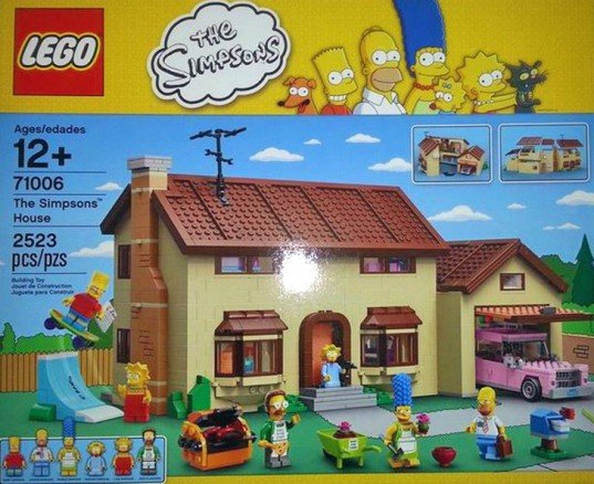 LEGO will produce a construction set based on hit TV animation The Simpsons photo