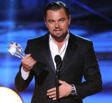 Leonardo DiCaprio followed up his Golden Globe win another best actor in a comedy prize for The Wolf of Wall Street