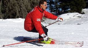 Michael Schumacher injured himself in a skiing accident in the French Alps photo