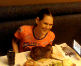 Molly Schuyler has smashed the world record for speed eating by devouring a 72oz steak in 2 minutes and 44 seconds